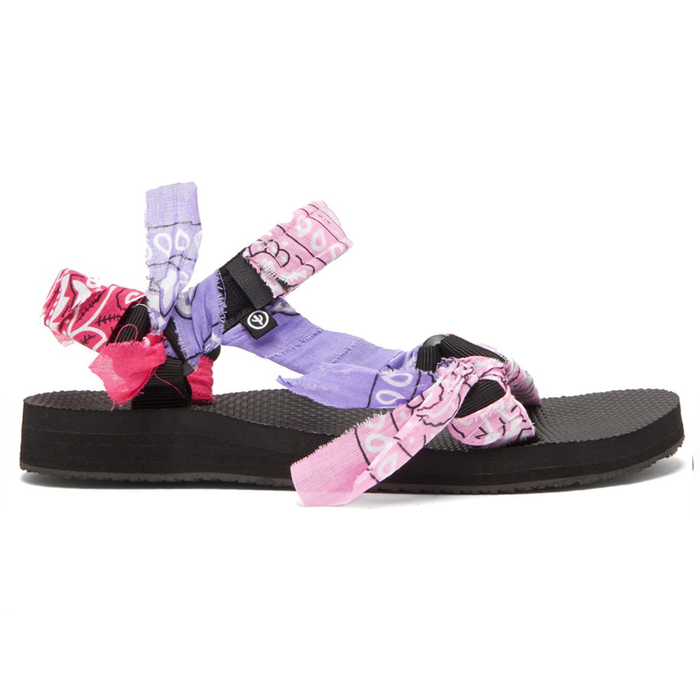 Mix Pink Kids Bandana Sandals