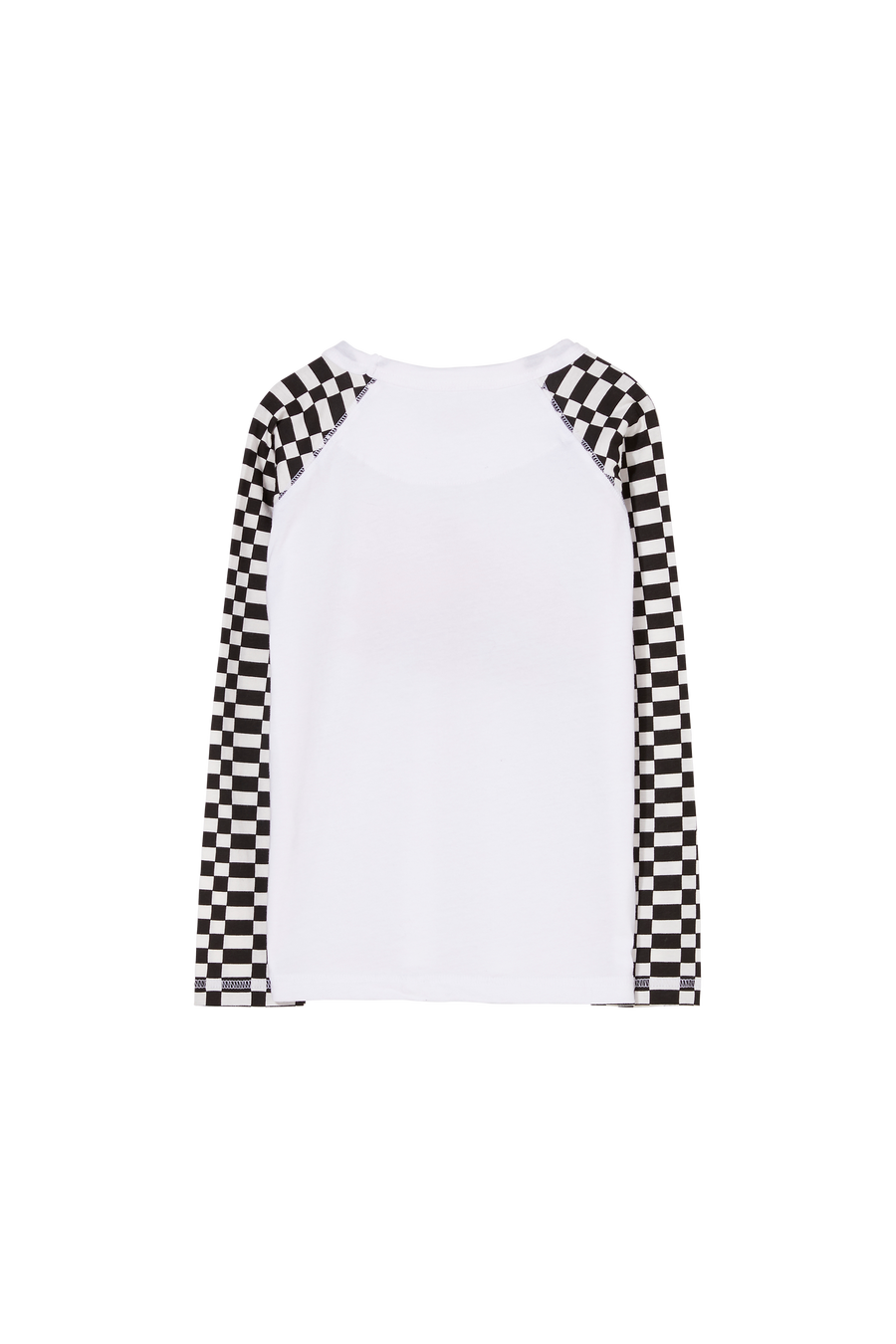 NEAL Ash Black/Off White Checkers 77 - Long Sleeves T-Shirt