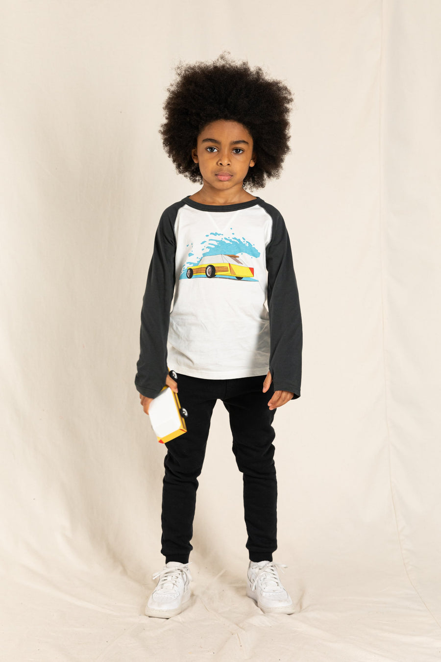 NEAL Ash Black/Off White Woodie - Long Sleeves T-Shirt