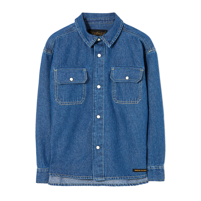NEW DUSK Blue Denim - Long Sleeve Shirt