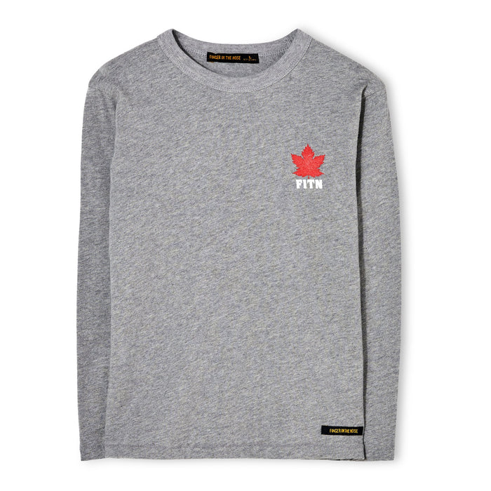 Nico H. Grey Maple Leaf - Long Sleeve Jersey T Shirt