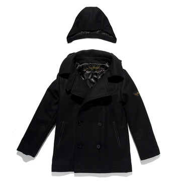 Owen Black - Boy's Wool Blend Peacoat