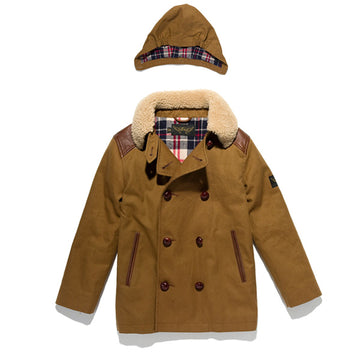 Owen Cord - Boy's Canvas Peacoat