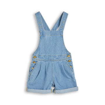 Phoebe Bleached Blue - Denim Short Overall