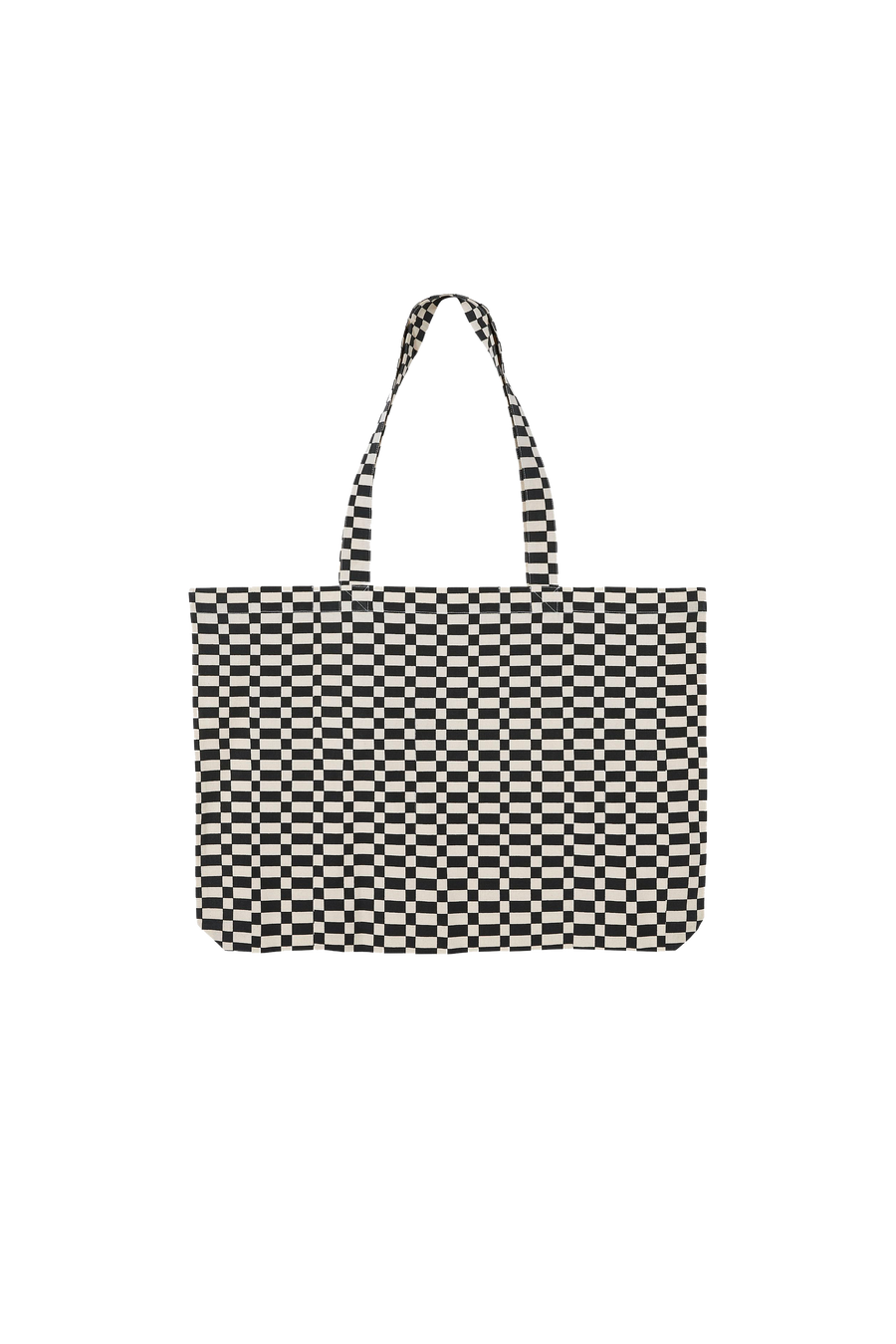 PORTER Ash Black/Off White Checkers - Large Tote bag
