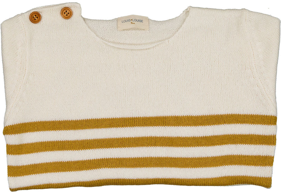 Pull Bobby Knitted Cotton Off White/Sand