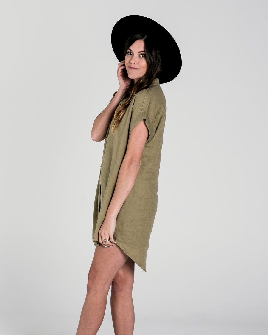 Button shirt dress Women