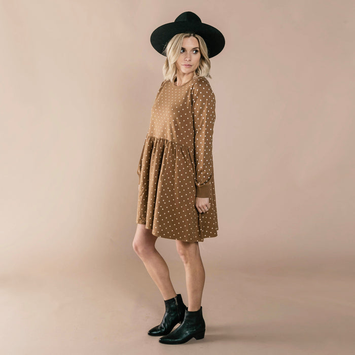 Celestial Raglan Dress Caramel