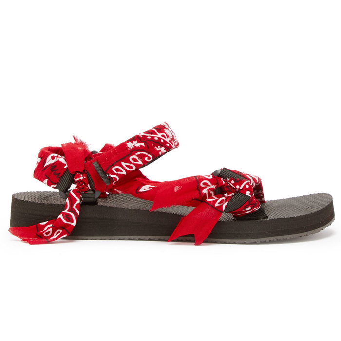 Red Kids Bandana Sandals