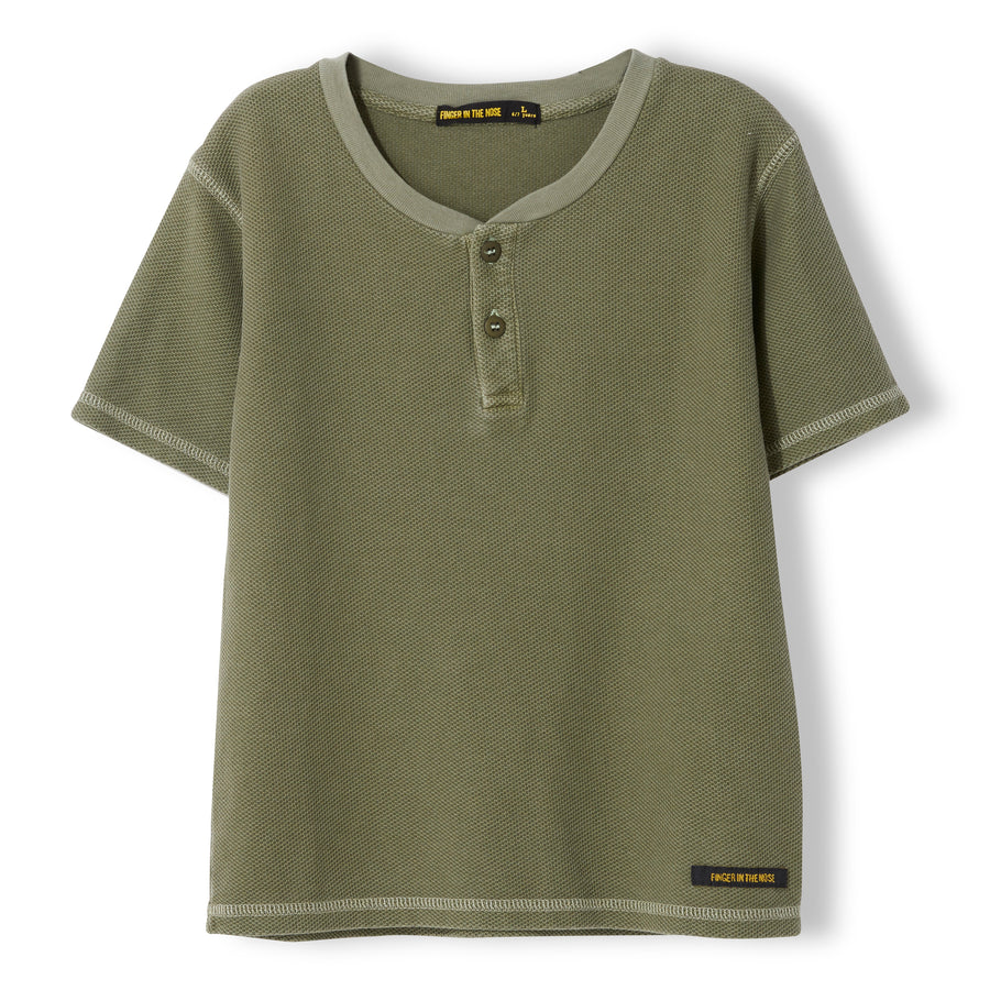 ROSWELL Khaki - Boy Knitted Tunisian Short Sleeve T-Shirt
