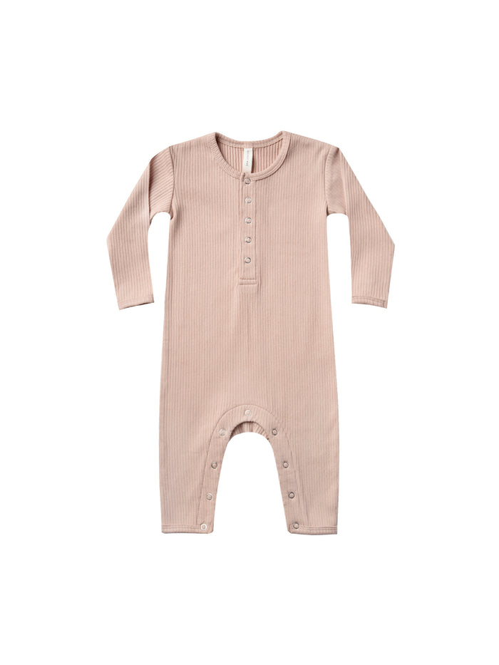 Ribbed Baby Jumpsuit Petal