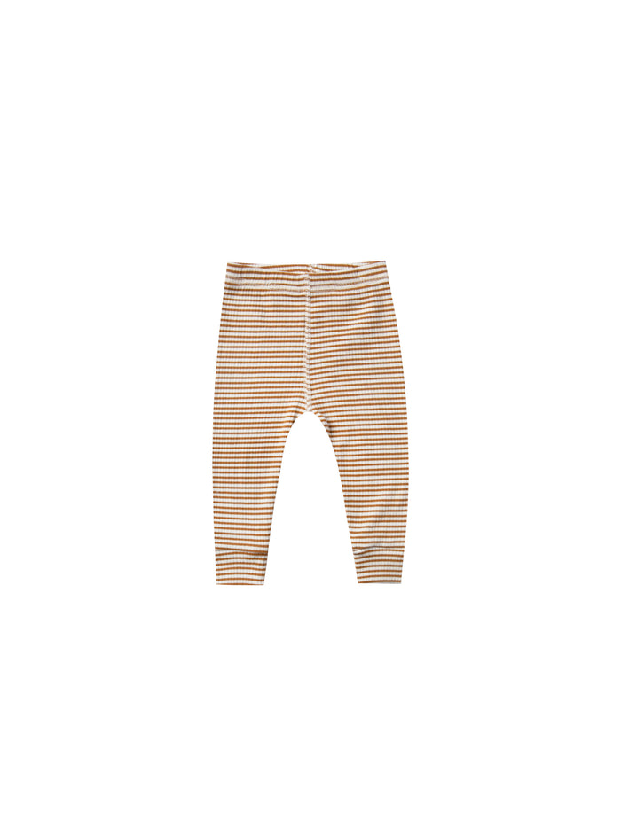 Ribbed Legging Walnut Stripe
