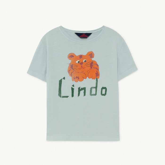 Rooster Kids+ T-Shirt Blue Lindo