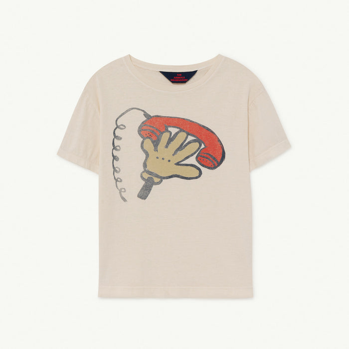 Rooster Kids+ T-Shirt White Telephone