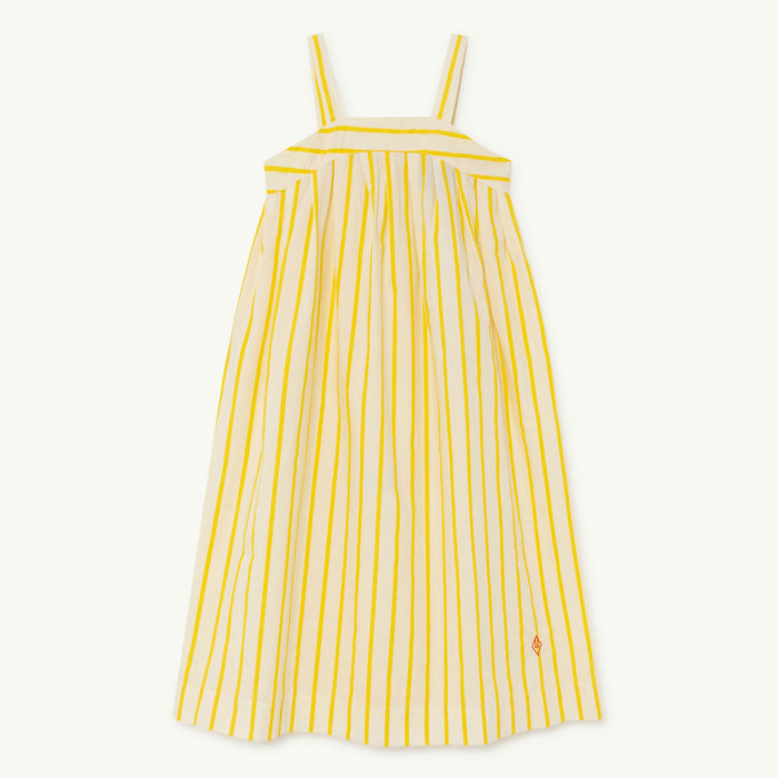 Giraffe Kids Dress White Stripes