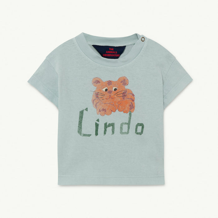 Rooster Baby T-Shirt Blue Lindo