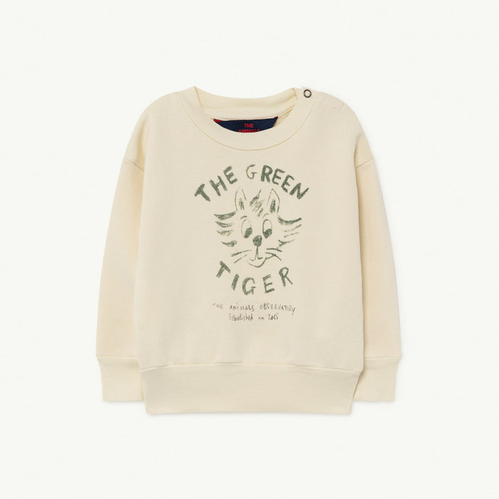 The Animals Observatory - Sweatshirts - Bear Baby Sweatshirt White Tiger