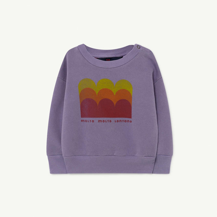 The Animals Observatory - Sweatshirts - Bear Baby Sweatshirt Purple Molto