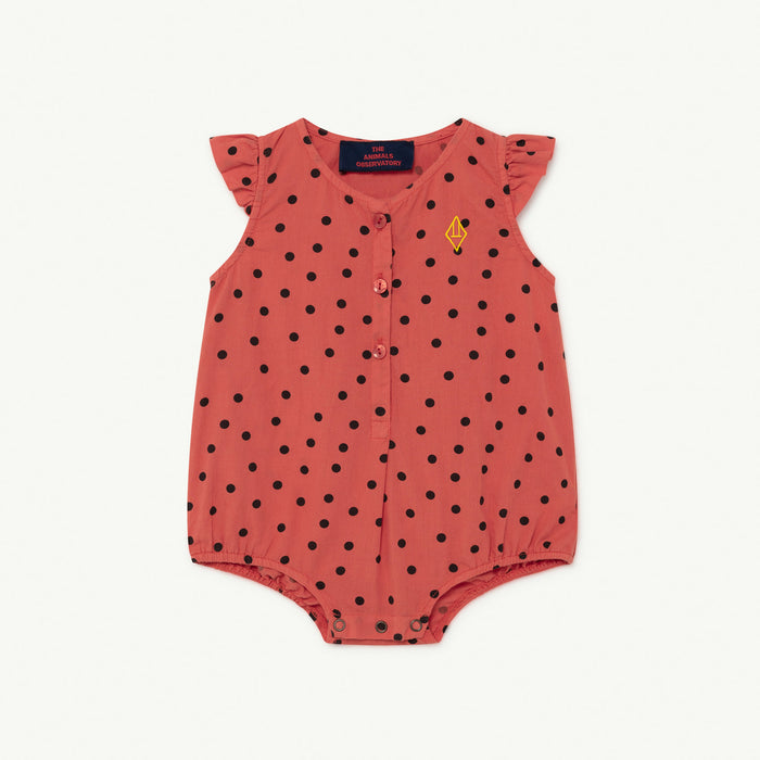 The Animals Observatory - Pyjamas / Bodies - Butterfly Baby Body Red Dots