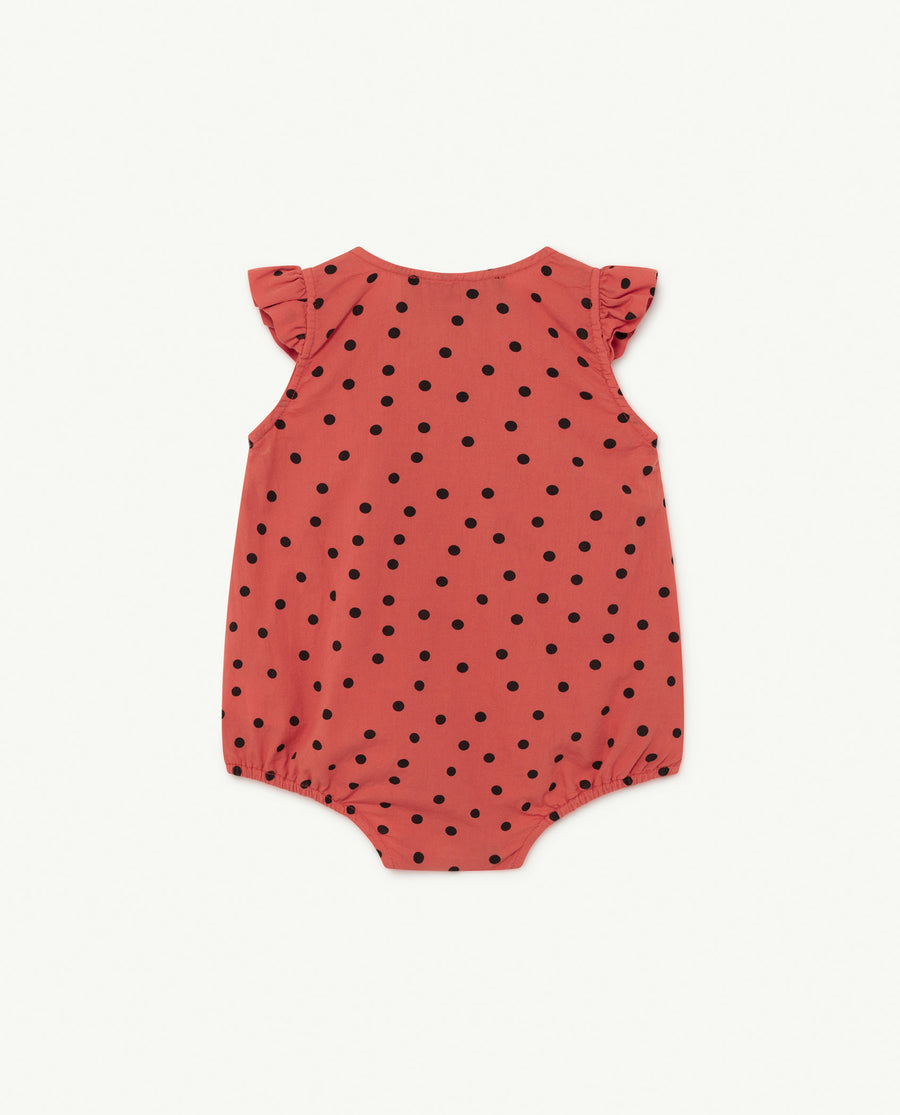 Butterfly Baby Body Red Dots