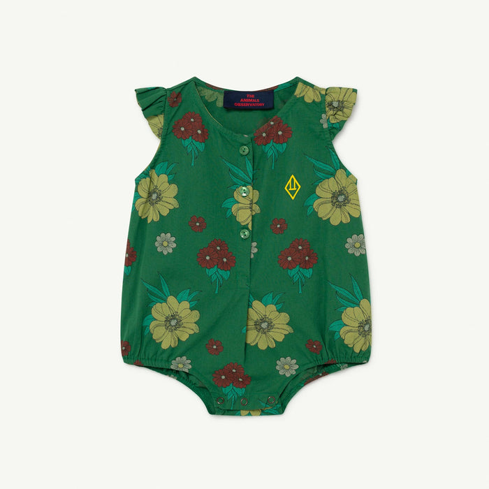 The Animals Observatory - Pyjamas / Bodies - Butterfly Baby Body Green Flowers