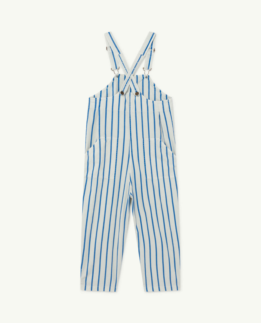 Mammoth Kids Jumpsuit White Bleu Stripes