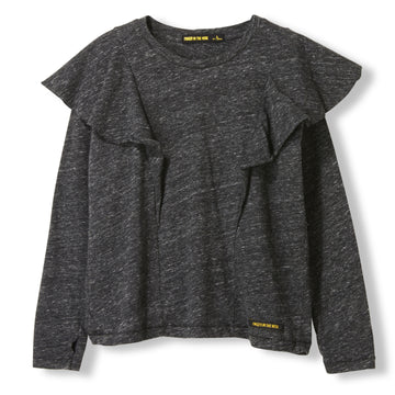 SHINE Heather Anthracite -  Knitted Long Sleeve Jersey T-shirt