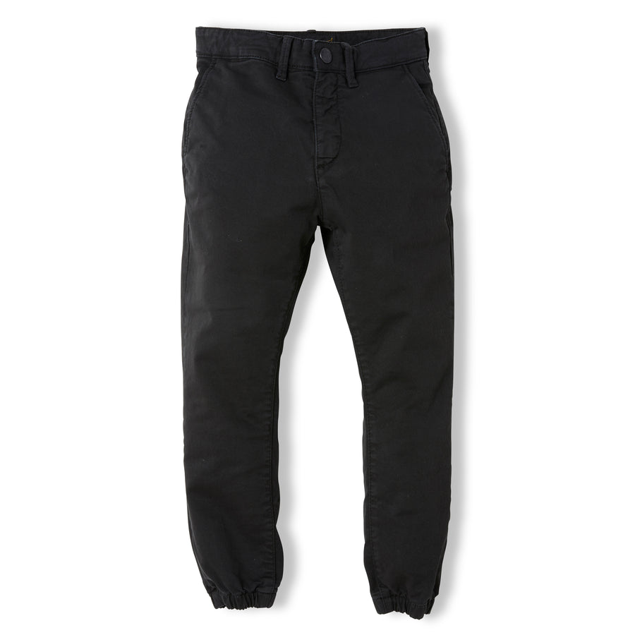 SKATER Summer Black - Boy Woven Elasticed Bottom Chino Fit Pants