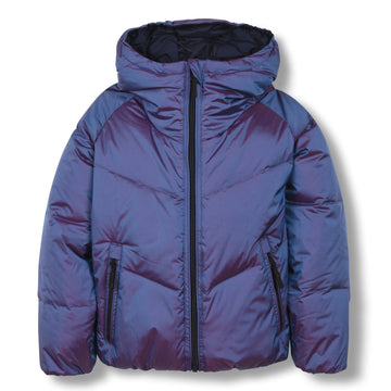 Snowdance Sailor Blue - Girl Woven Down Jacket
