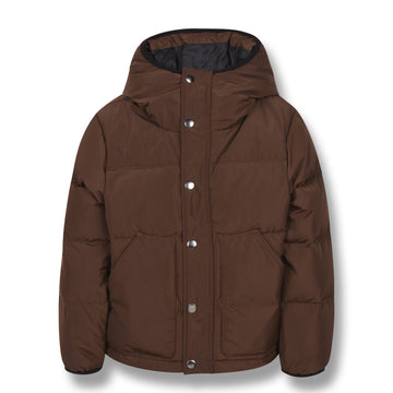 Snowflow Brown - Unisex Woven Down Jacket