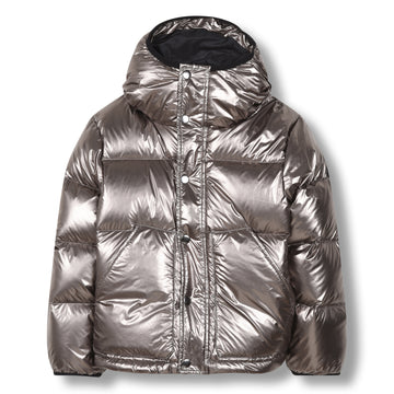 Snowflow Silver - Unisex Woven Down Jacket