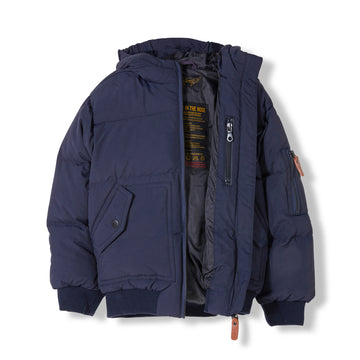 Snowmove Navy - Boy Woven Down Jacket
