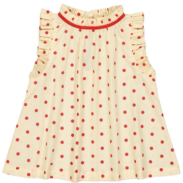 Misha Blouse Dots Red
