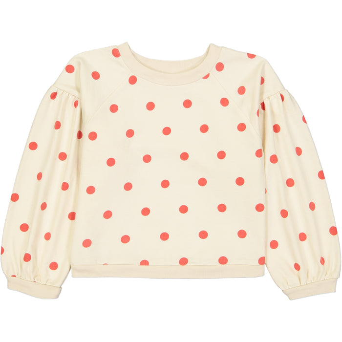 Sam Sweatshirt Dots Red