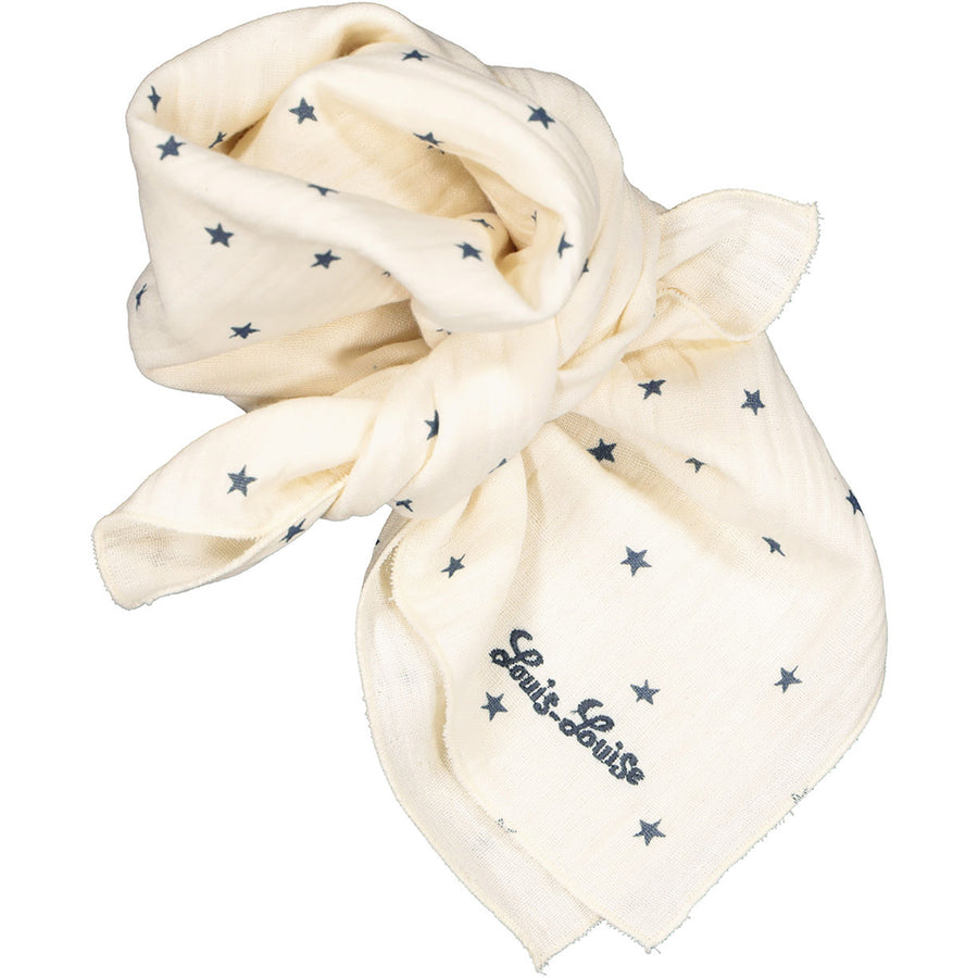 Scarf Sissi Stars Double Gauze Offwhite