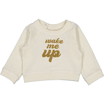 Sweat James Fleece Wake Me Up Off white