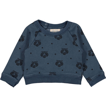Sweat James Fleece Tiger Dark Blue
