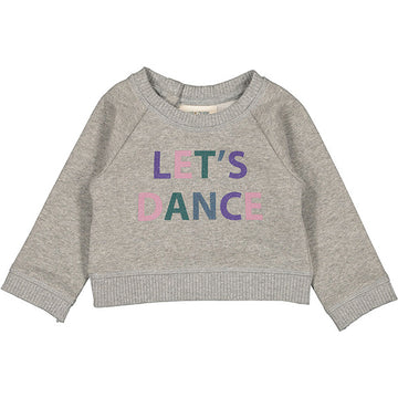 Sweat James Fleece Lurex Let'S Dance Marled Grey