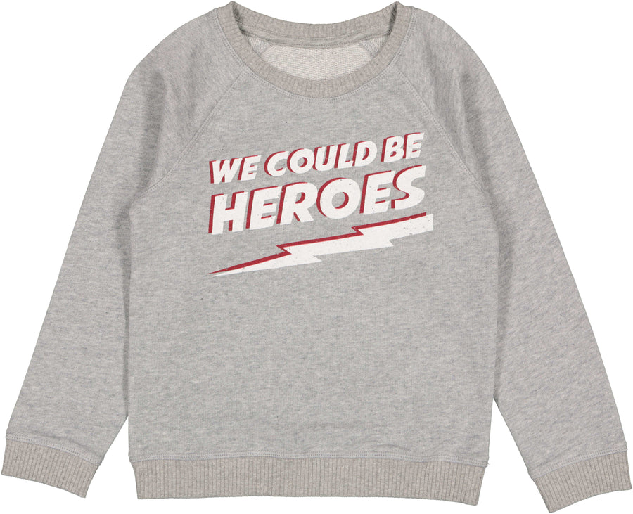 Sweat James Marled Grey Cotton Fleece Heroes