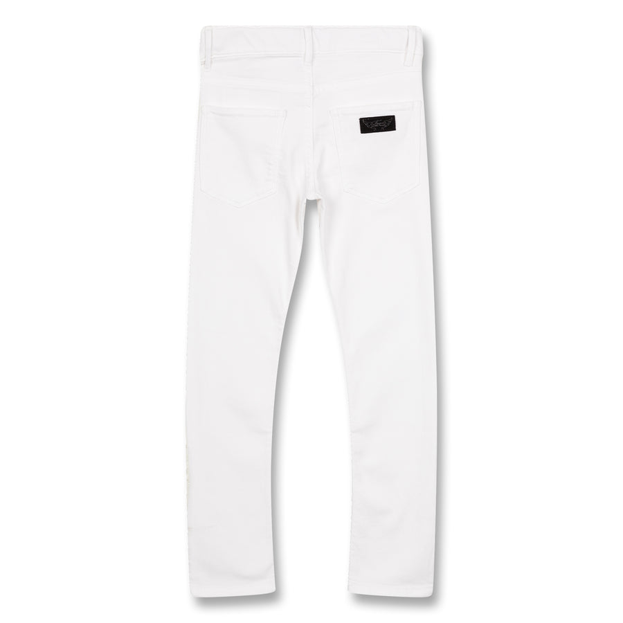 Tama Optical White - Girl Woven Skinny Fit Jeans