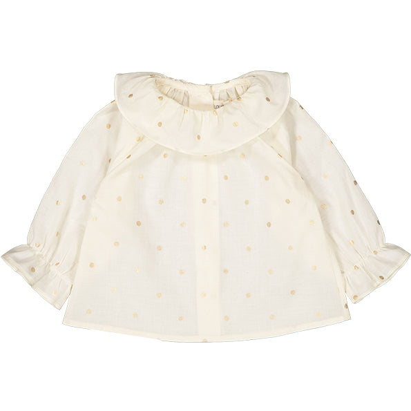 Tunic Lilie Dots Gold Off White