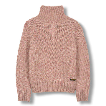 Vanity Heather Pink - Girl Knitted Oversized Jumper