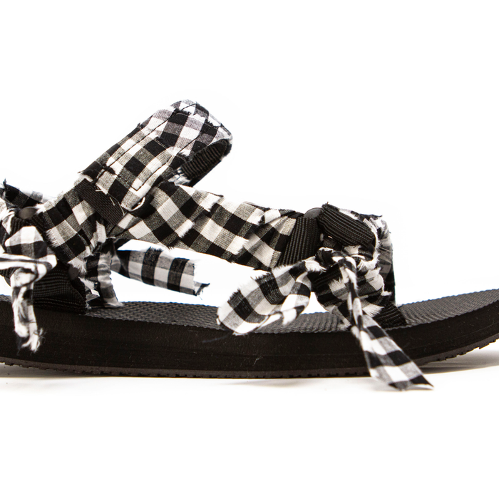 Vichy Black And White Kids Sandals