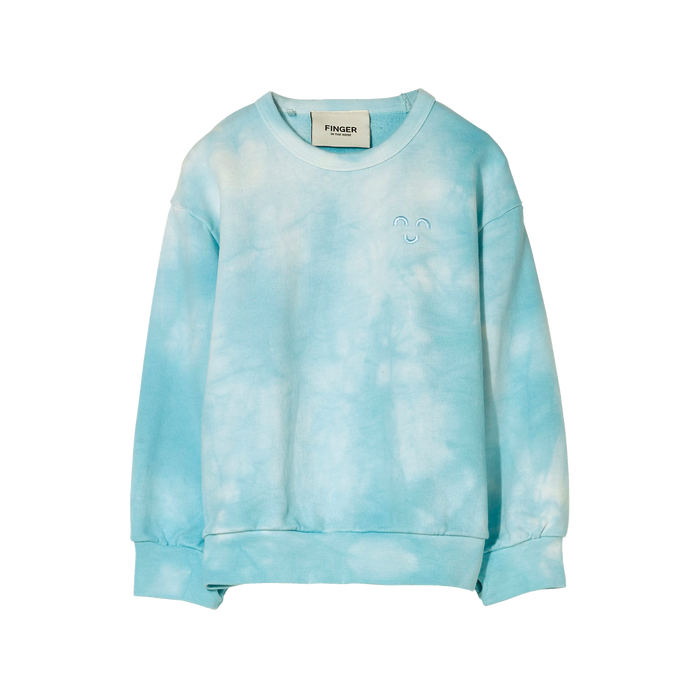 WIND Cloud Blue Tie & Dye - Loose Sweater