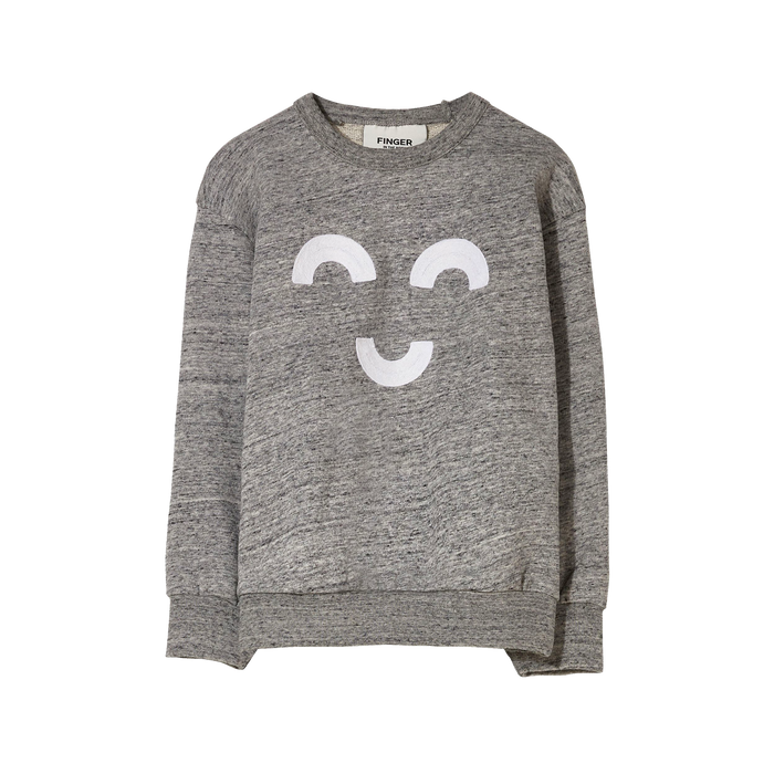 WIND Heather Grey Macaroni - Loose Sweater