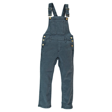 Worker Coal Stripes - Girls Woven Comfort Fit Overall
