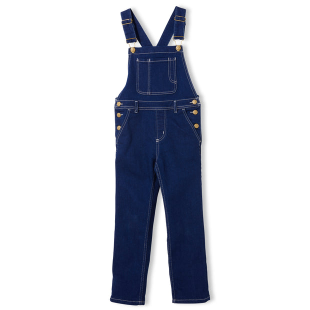 WORKER Raw Denim Blue - Girls Woven Loose Fit Overall