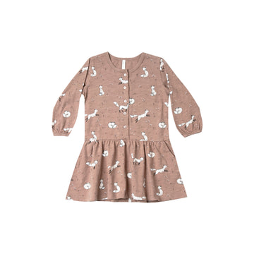 Winter Fox Button Up Dress Truffle