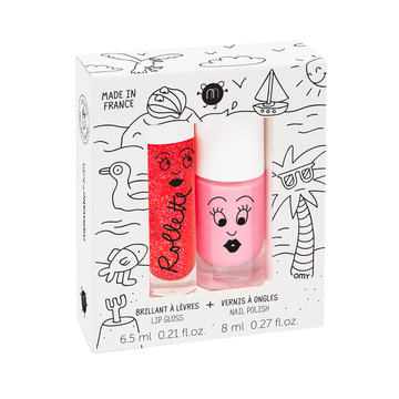 COFFRET ROLLETTE FRAISE 6.5 ML + VERNIS A L'EAU COOKIE 8 ML