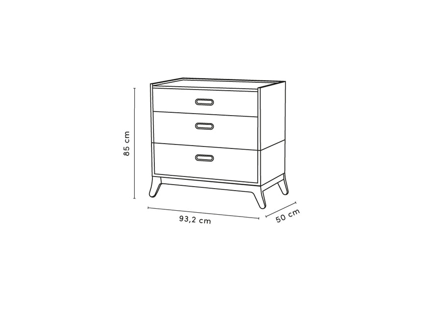 3 DRAWER DRESSER - NEW HORIZON 85X93